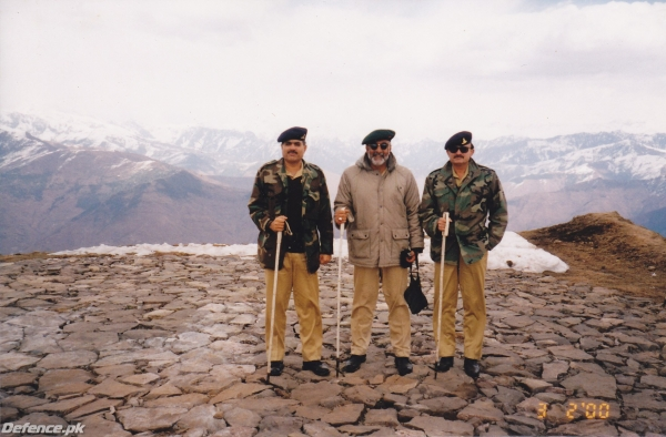 General TM Malik in the Northern areas