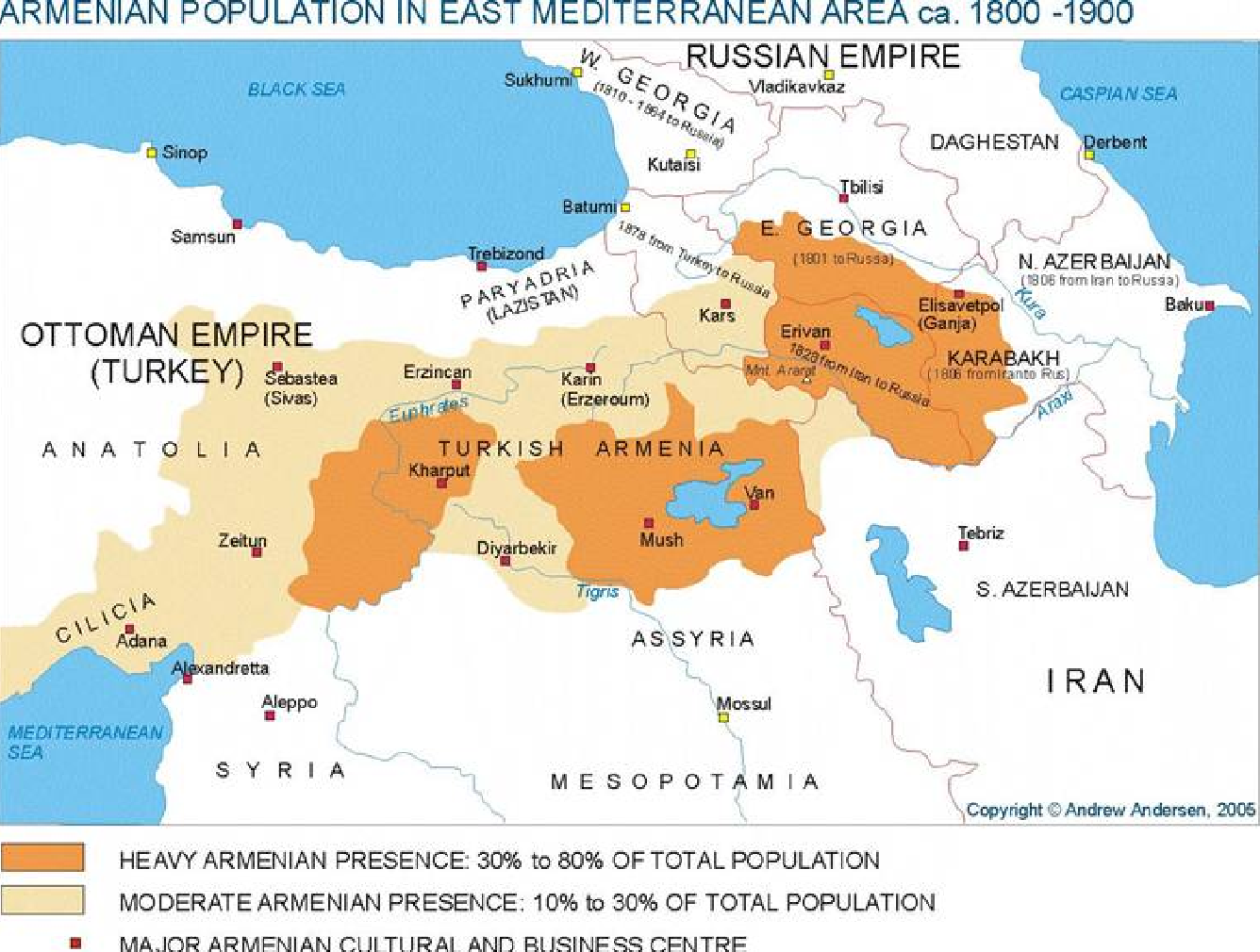 Armenian Population In East Mediterranean Area ca. 1800~1900 and Ottoman Empire.png