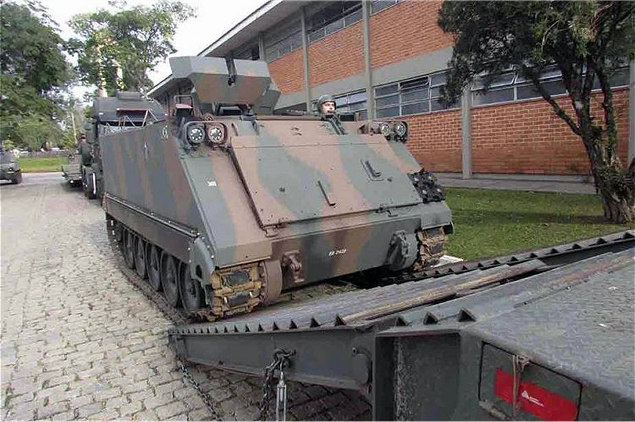 Brazilian army has finalized upgrade of its fleet of M113 tracked APCs