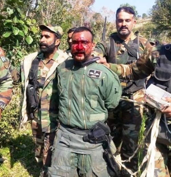 Indian Wing Commander Bloodied and Captured.jpg