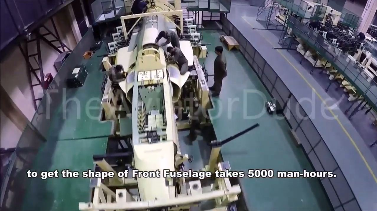 JF-17 5000 man hours required to assemble parts in shap of Front Fuselage.JPG
