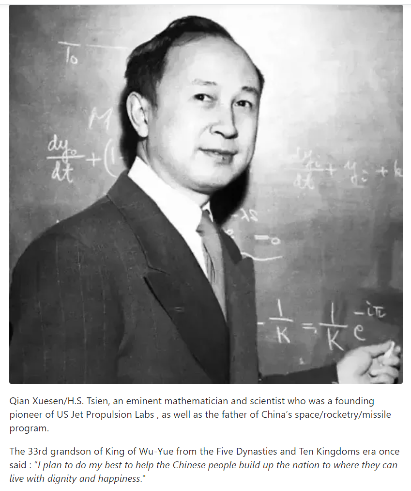 Qian Xuesen - an eminent mathematician and scientist, co-founder of US Jet Propulsion Labs and...png