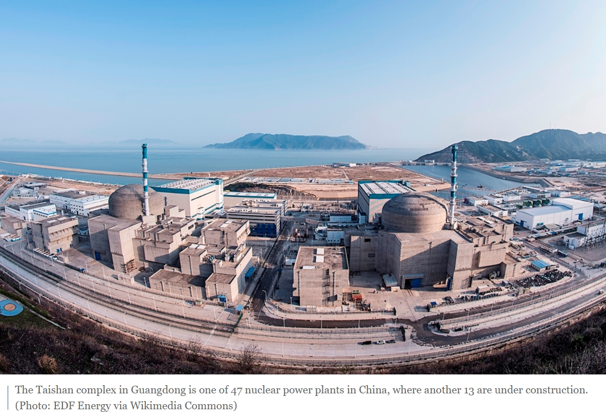Taishan Nuclear Power Plant complex in Guangdong is one of 47 nuclear power plants in China.jpg