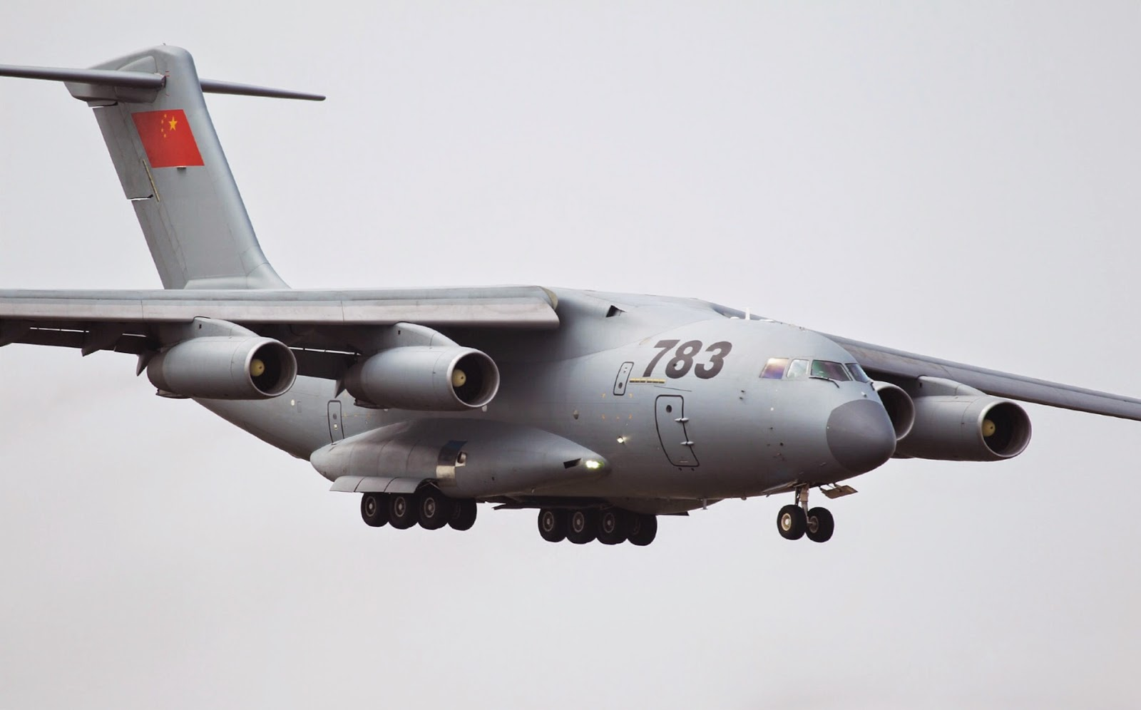 Y-20 China Future Military Transport Airplane air show 2014-2.jpg