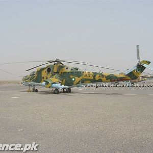 Pak Army's Mi-24 along with Mi-17