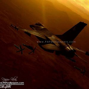 F-16 Dropping GBU-10/12 in Swat
