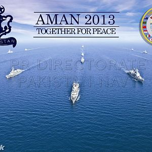 AMAN Formation during Exercise AMAN 13 in Arabian Ocean