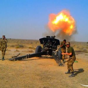 122mm Gun Flash