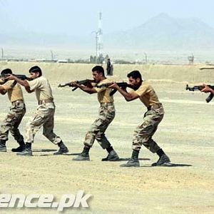 Troops of Frontier Corps Balochistan during Basic Military Training.
