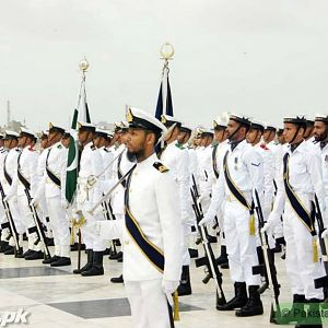 Pakistan Navy During changing of guards at Quiad's Mausoleum