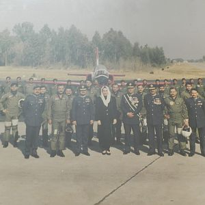First K-8 Batch of Pilots with Prime Minister Benazir Bhutto