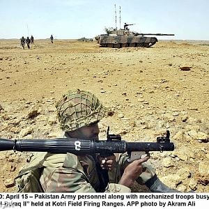 Al-Buraq II Exercise at Kotri Field Firing Range