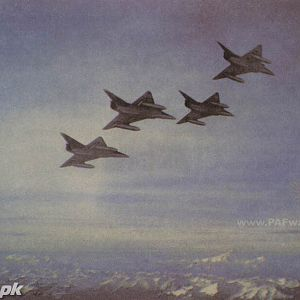 Mirage formation over Snow-clad mountains