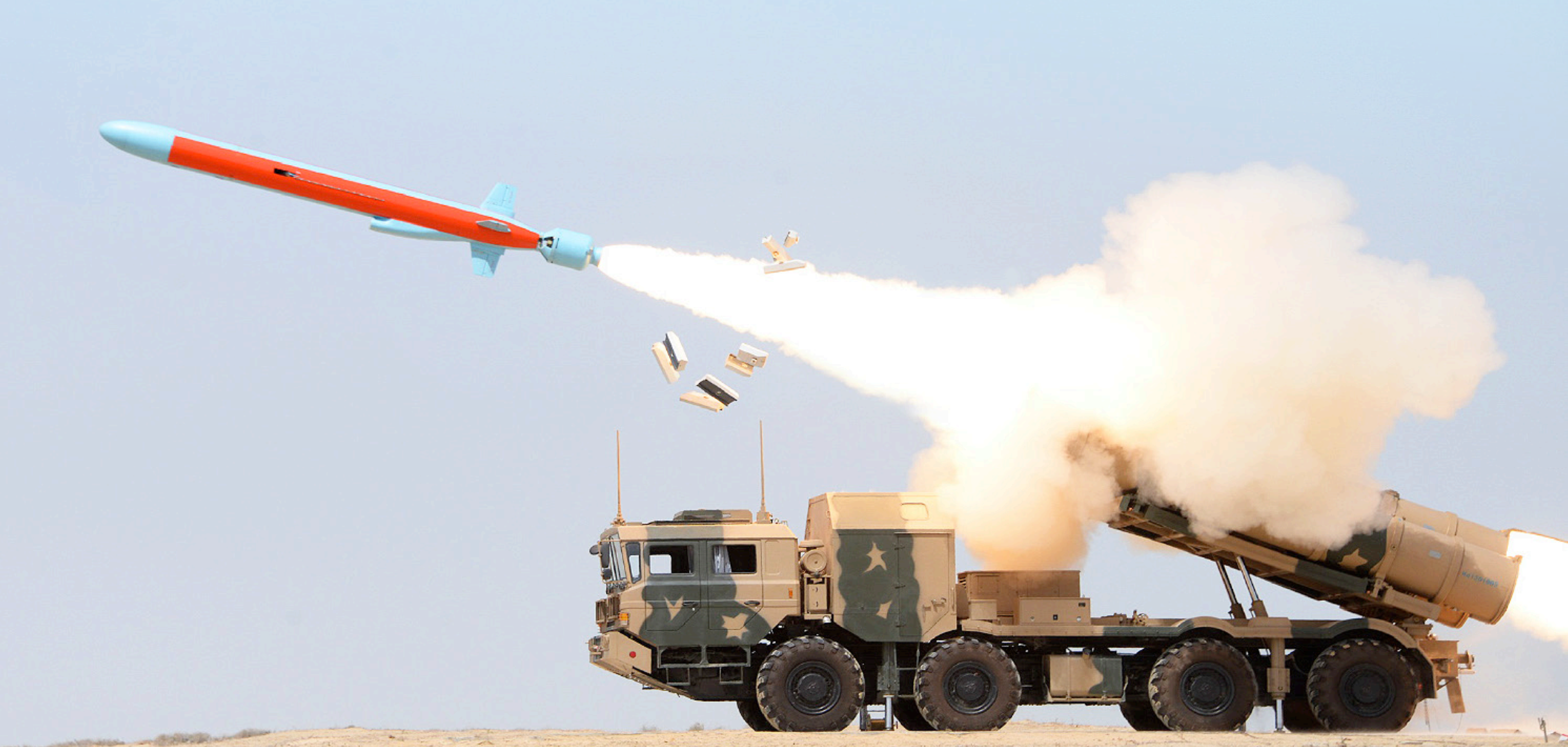 Pakistan Navy released pictures of Zarb anti-ship missile test firing